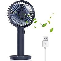 Nobebird USB Ventilator leise kleine Tischventilator Handventilator mit Spiegelbasis / 5 Geschwindigkeit Einstellbar/Für Büro, Zuhause und im Freien