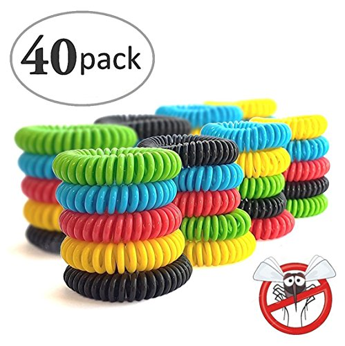 racelets 40 Pack DEET FREE Natural Waterproof Wristbands , Pest Bug Control Bands For Kids & Adults Outdoor Camping Fishing Traveling (Self Cleaning Bbq)