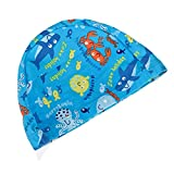 The Undersea World Children's Knitted Swimming Caps Baby Swimming Cap,Blue