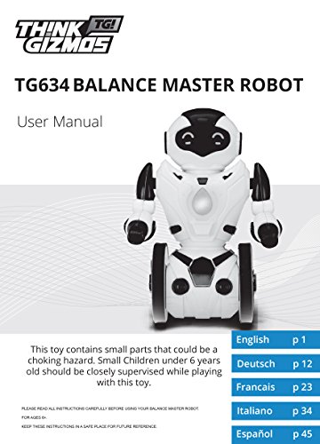 Remote Control Toy Robot For Kids TG634-S – Black & Silver Balance Robot