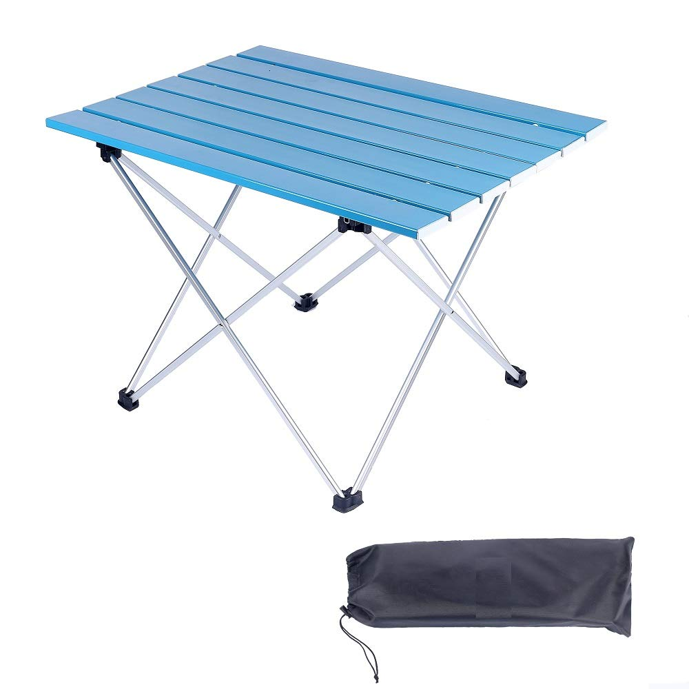 BBQ Boat Beach Picnic Two Sizes Camp Suncaya Outdoors Portable Aluminum Folding Camping Side Tables with Carry Bag Hiking Compact Lightweight Table SO-ZDZ-001