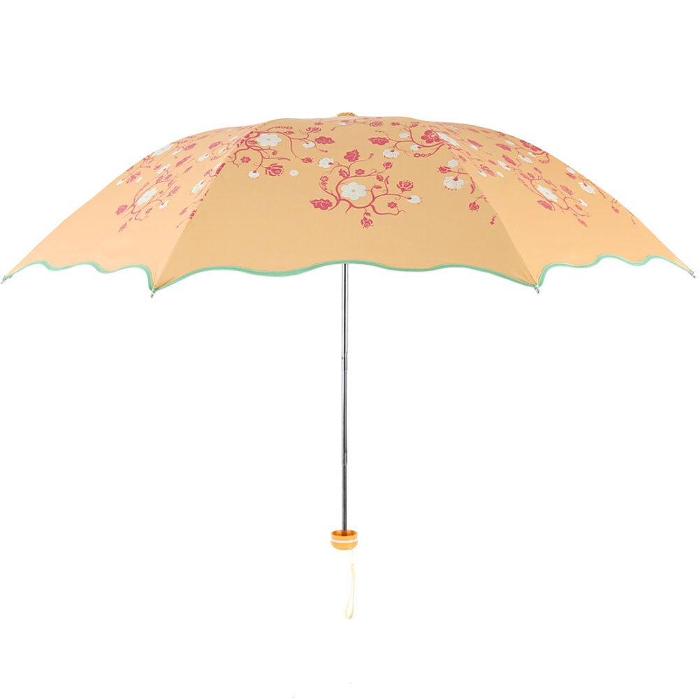 ZI LIN SHOP- Water Is Now Spent Black Plastic Ultra Light Sun Umbrella Clear Umbrella rug ( Color : Yellow )