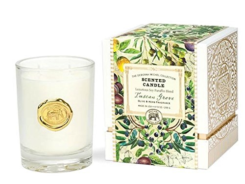 (The Deborah Michel Collection Gift Boxed Scented Candle, 9-Ounce, Tuscan Grove, 9 oz,)