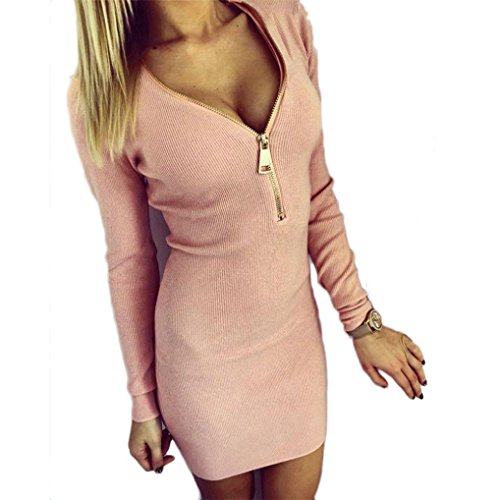 v-neck-dresshemlock-women-long-sleeve-bodycon-party-dress-xl-pink