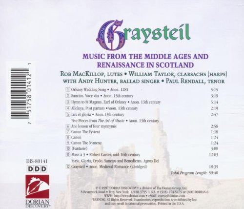 Graysteil: Music From The Middle Ages And Renaissance In Scotland by Alliance
