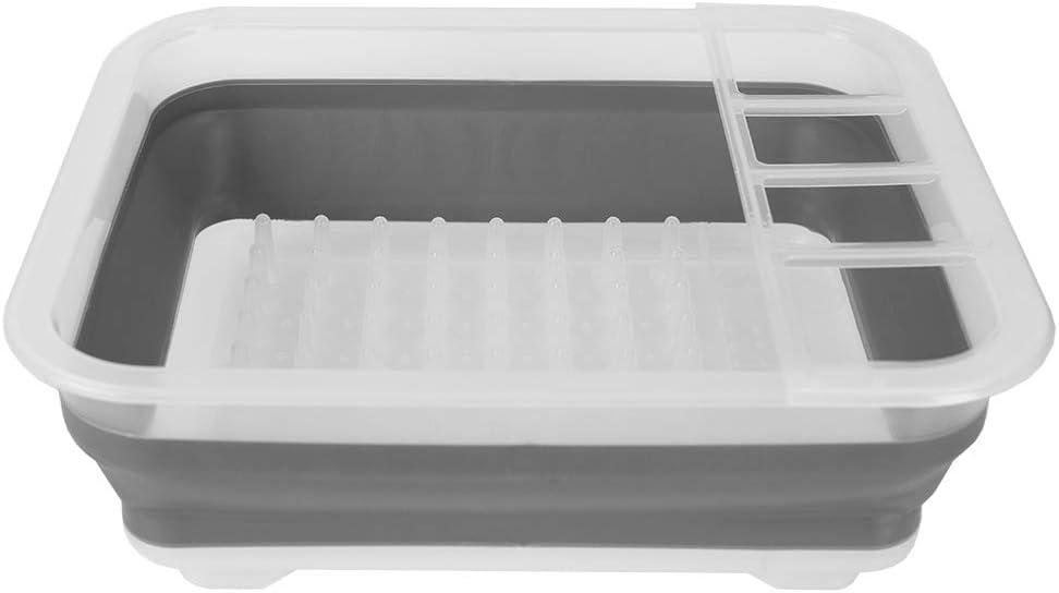 Escurreplatos plegable con escurridor y cubo de pl/ástico plegable Sammart 2 unidades