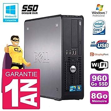 Dell PC 780 SFF Intel E8400 RAM 8 GB SSD 960 GB grabadora DVD WiFi ...