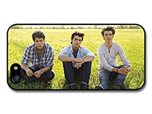 Jonas Brothers Sitting Grass Popstars case for iPhone 5 5S A1973 by ruishername