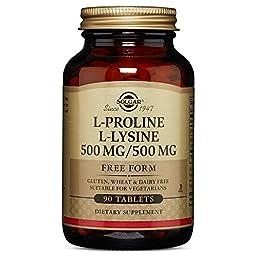 L-Proline/L-Lysine Tablets (500/500 mg) 90 Tablets