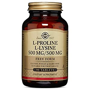 Solgar L Proline/L Lysine (500/500 mg) 90 Tablets