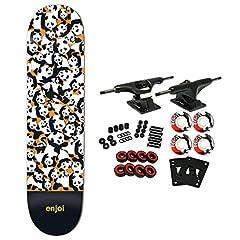 "Enjoi Panda Pile Up 8.0 Orange Skateboard Deck. Resin Hybrid Maple Construction. Width: 8.0"" / Length: 31.6"" / Wheelbase: 14.0"". Full Concave / Steep Kick. Resin Hybrid Maple Construction features 7-ply Hardrock & Canadian Maple blend wit..."