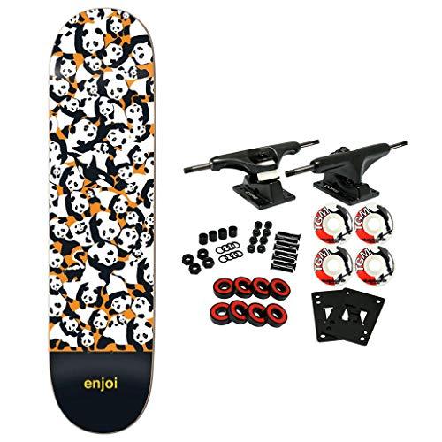 (Enjoi Skateboard Complete Panda Pile Up Orange 8.0