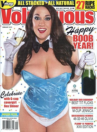 (VOLUPTUOUS MAGAZINE FEBRUARY 2015 BEX SHINER NO DVD)