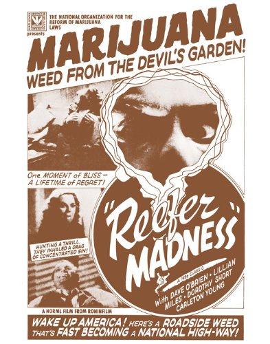 Reefer Madness 1936 Marijuana Propaganda Movie Sepia Poster