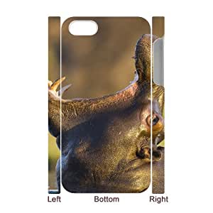 S-ADFG Diy hard Case Hippo customized 3D case For Iphone 4/4s
