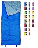 REVALCAMP Lightweight Blue Sleeping Bag Indoor & Outdoor use. Great for Kids, Youth & Adults....