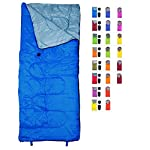 REVALCAMP Lightweight Blue Sleeping Bag By Indoor Outdoor Use Great For Kids Youth Adults Ultralight And Compact Bags Are Perfect For Hiking Backpacking Camping Travel