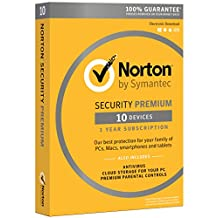 Norton Security Premium - 10 Device [Key Card] - 2019 Ready