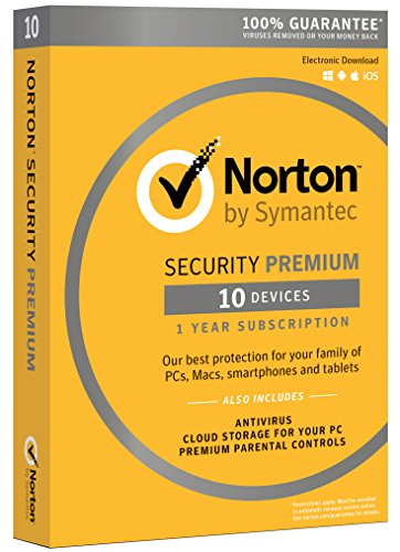 Software : Norton Security Premium - 10 Devices [Download Code]