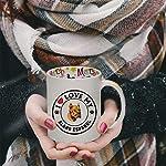 Ceramic Christmas Coffee Mug I Love My Alano Espanol Dog Style A Funny Tea Cup 8