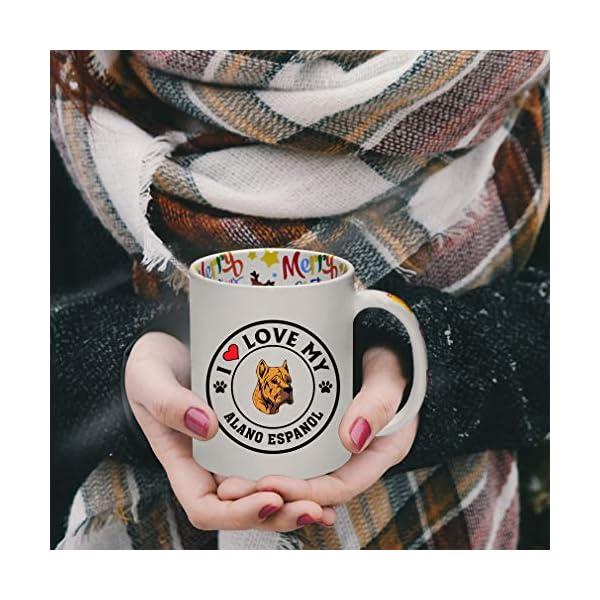 Ceramic Christmas Coffee Mug I Love My Alano Espanol Dog Style A Funny Tea Cup 4
