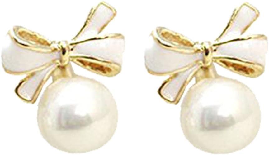 Lovely Ballet Shoes// Bowknot Silver Stud Earrings W// Rhinestones// U.S Seller!