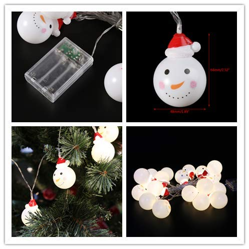Exing 2 pcs Navidad Tiras LED Tira Luz LED, Blanco cálido, Botellas de Cristal Árbol de Navidad Muñeco De Nieve, 10 LED-Leuchten: Amazon.es: Hogar