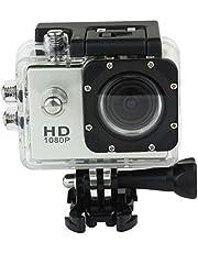 كاميرا اكشن رياضية 12 ميجابيكسل 1080P فل اتش دي، دي في ار مقاومة للماء 1.5 للغوص بعمق 30 متر