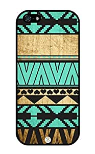 Personalized Turquoise and White Stripes Pattern RUBBER iPhone 5C case - Fits iPhone 5C T-Mobile, AT&T, Sprint, Verizon and International (White)