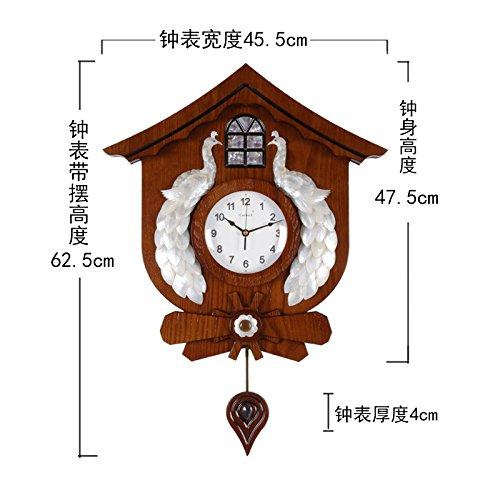 AYYA Modern creative quartz wooden watch large shell decorative mute modern creative quartz