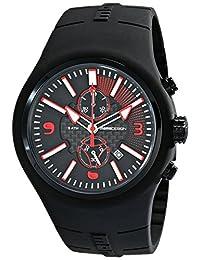 Momo Design Men's MD1009BK-04BKRD Mirage Chrono Analog Display Swiss Quartz Black Watch