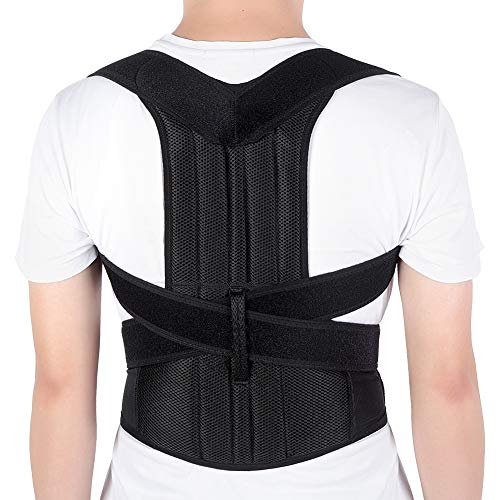 Yosoo Health Gear Back Brace Posture Corrector Adjustable Back Shoulder Lumbar Waist Support Belt for Men and Women, Improve Posture, Prevent Slouching, Pain Relief (XXL 42