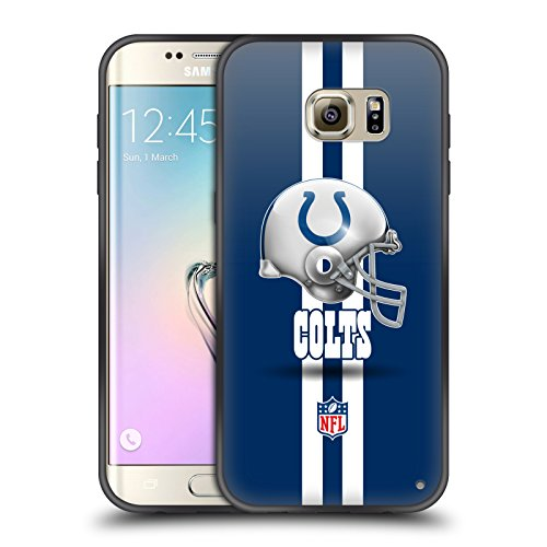 Indianapolis Colts Edge - Official NFL Helmet Indianapolis Colts Logo Skinny Fit Hybrid Iced Case for Samsung Galaxy S7 edge