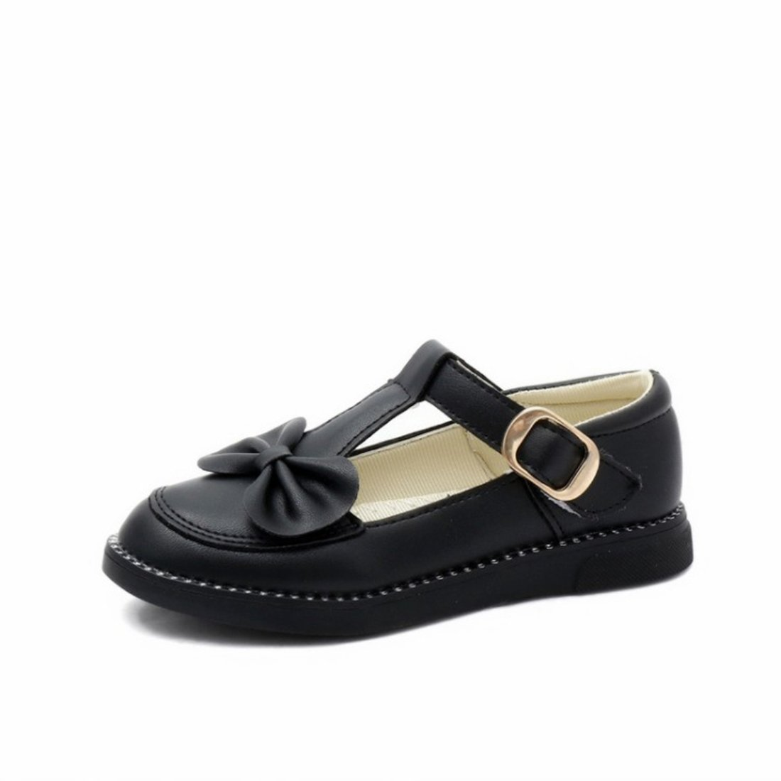 O&N Girls Children Bowknot Ballet Flat Mary Janes Princess Bridesmaid Wedding Party School Shoes