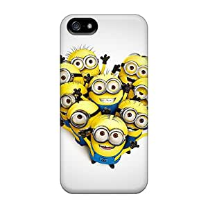 New Iphone 5/5s Cases Covers Casing(minions In Heart Shape)