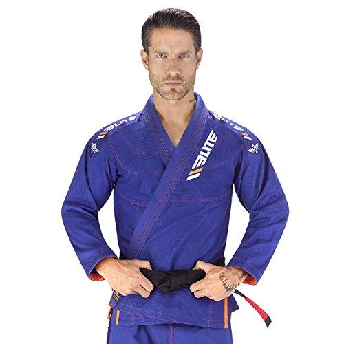 Elite Sports New Item IBJJF Ultra Light BJJ Brazilian Jiu Jitsu Gi w/Preshrunk Fabric & Free Belt (Blue, A4)