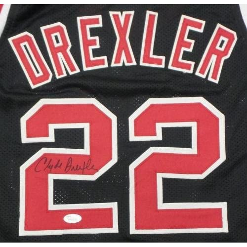 90894acc81c Clyde Drexler Signed Jersey - Black - JSA Certified - Autographed NBA  Jerseys 70%OFF