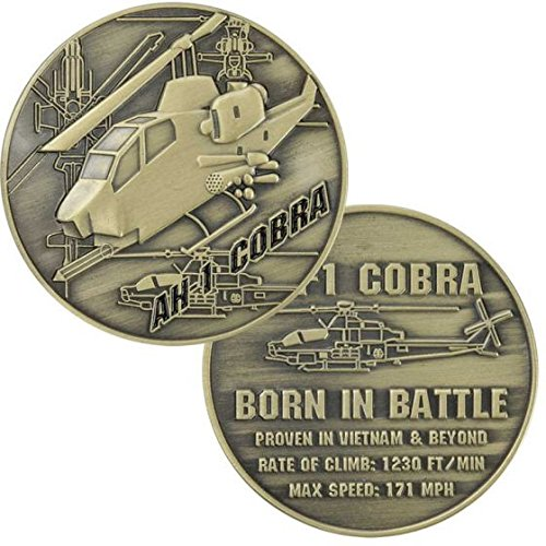 AH-1 Cobra Helicopter 1.75 in Challenge Coin