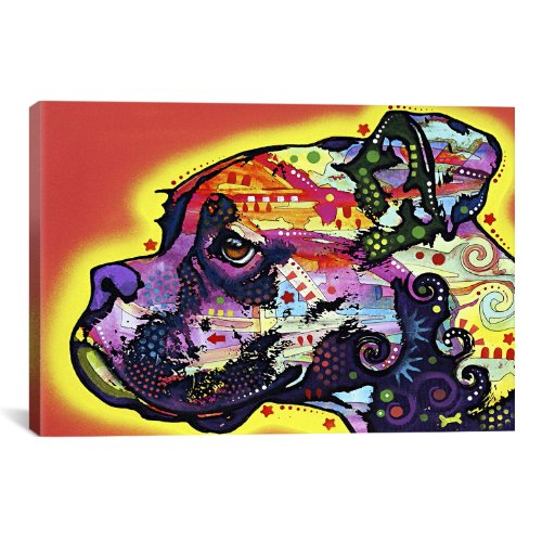 Pop Art Boxer - iCanvasART Profile Boxer Canvas Art Print by Dean Russo, 18 by 12-Inch