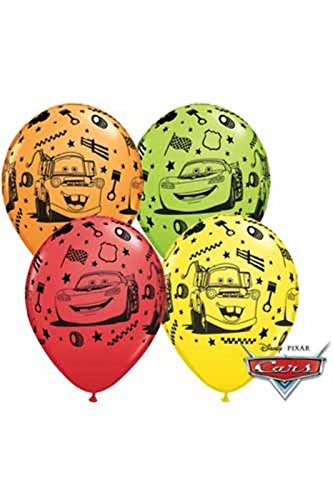 Disney Cars Lightning McQueen Birthday Party Latex Balloons 5pk by Qualatex