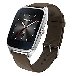 "ASUS WI501Q(BQC)-1RTUP0011 - Smartwatch de 1.63"" (Qualcomm Snapdragon, 512 MB RAM, 4 GB eMMC, Bluetooth, WiFi, Android Wear, acero inoxidable), marrón-gris oscuro"