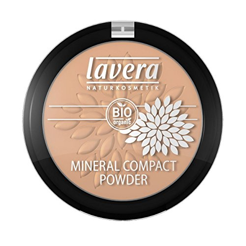 Lavera Natural Mineral Compact Powder (Honey), Fix Concealer and Foundation (For Those With Medium Skin Tones) -