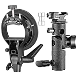Neewer Professional Universal E-Type and S-Type Bracket Holder with Bowens Mount for Speedlite Flash Snoot Softbox Beauty Dish Reflector Umbrella Photo Studio Accessories