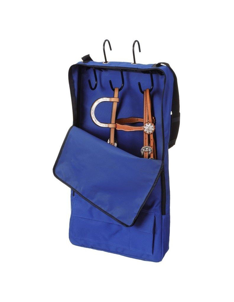 Tough 1 Bridle/Halter with 3 Prong Tack Rack, Royal Blue