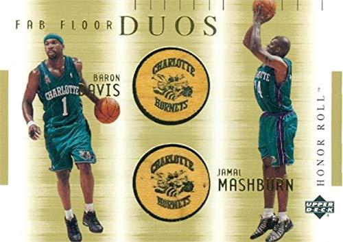 Hornets Baron Davis - Jamal Mashburn & Baron Davis Fab Floor Duos patch basketball card (Charlotte Hornets) 2002 Upper Deck Honor Roll #BDJMF
