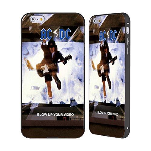 Officiel AC/DC ACDC Faites Sauter Votre Vidéo Couverture D'album Noir Étui Coque Aluminium Bumper Slider pour Apple iPhone 6 Plus / 6s Plus