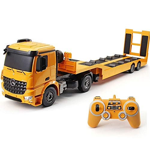Kikioo 1:20 Scale 2.4GHZ Radio Remote Diecast Tow Truck Wrecker Road Models Construction Vehicles Excavator, Crane, Trailer For Kids Party Favors Cake Decorations Birthday Gift Boys Girls Xmas Gifts