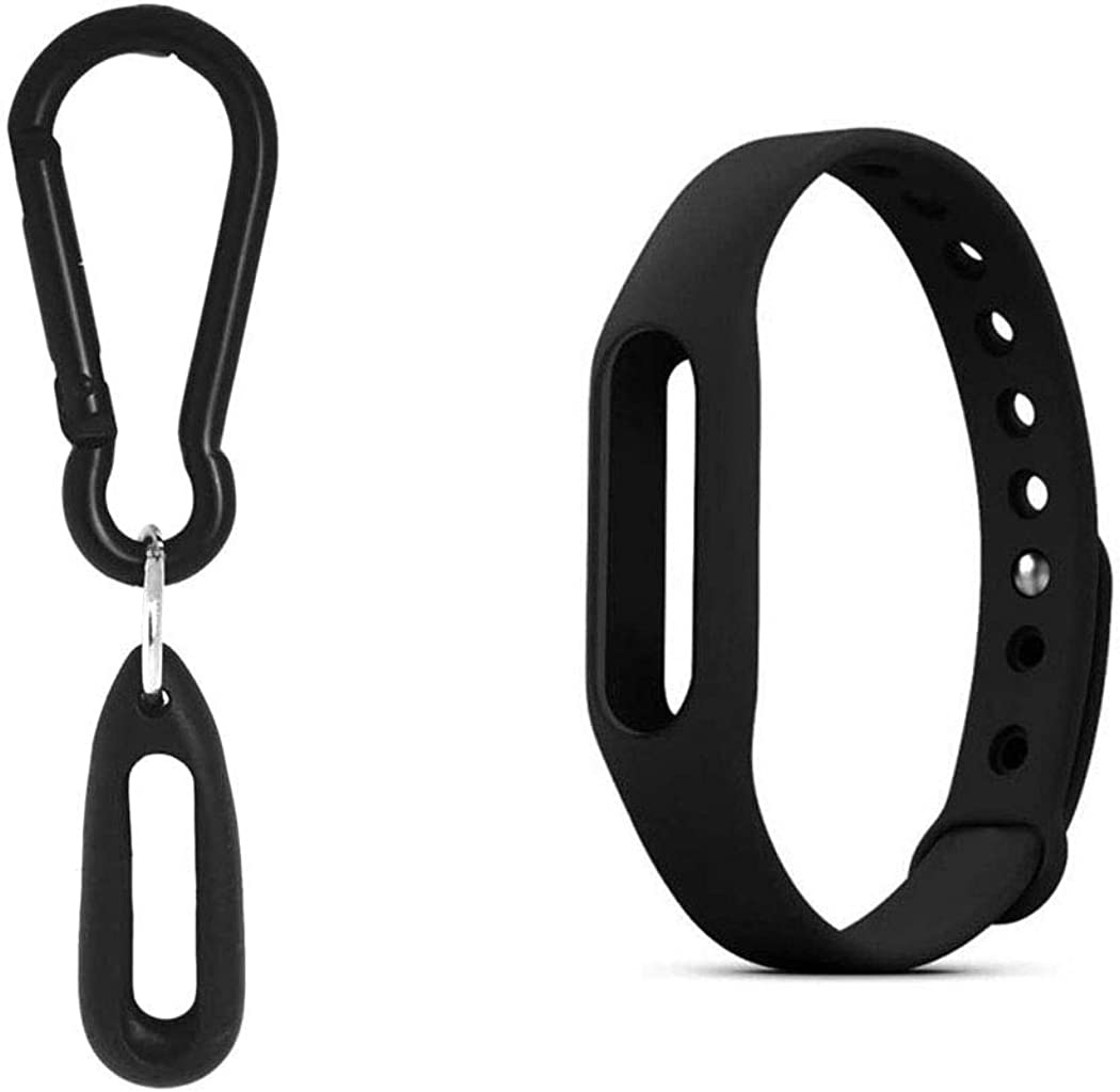 Compatible Accessory Pack for Pokemon Go Go-tcha, Includes 1 x wrist band and 1 x Silicone Case with Carabiner Keychain (Black)