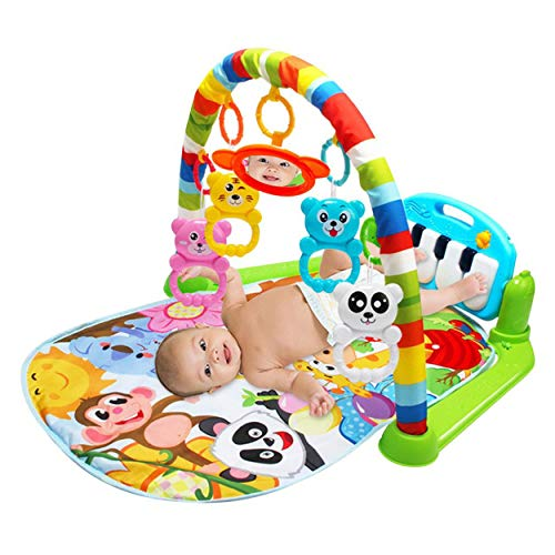 Baby Play Mat Toddler Gym Juguete Floor Crawl Alfombra con Música Piano Pedal Fitness Frame Bebé Juguete