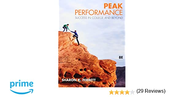 Peak performance success in college and beyond sharon ferrett peak performance success in college and beyond sharon ferrett 9780073375199 amazon books fandeluxe Gallery